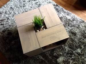 Table Basse Caisse Bois : table basse en caisse vin cr ation projets maison pinterest table room decor et decor ~ Nature-et-papiers.com Idées de Décoration
