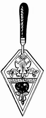 Trowel Template Coloring Pages Masonic Clip Clipart Tools Lodge Down Templates sketch template