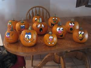 Funny Painted Pumpkin Faces