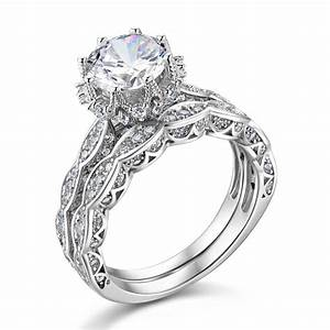 aliexpresscom buy 18 ct genuine 925 sterling silver With silver wedding ring sets
