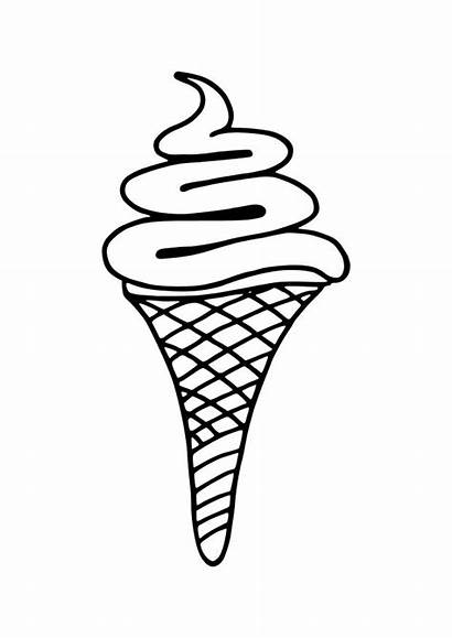 Cream Ice Coloring Pages Sundae Cone Clipartpanda