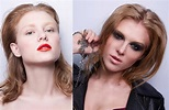 Portrait Of Same Girl With Two Different Makeup Stock ...