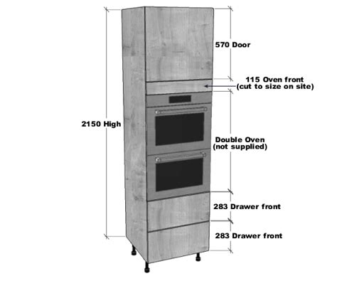 double oven housing  pan drawers unit mm high