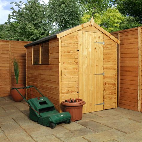 7 x 5 garden sheds 7 x 5 tongue and groove apex shed with single door 2