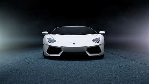 lamborghini aventador lp  white front  hd wallpaper