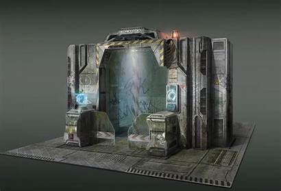 Apocalyptic Base Military Concept Gate Sf Sci