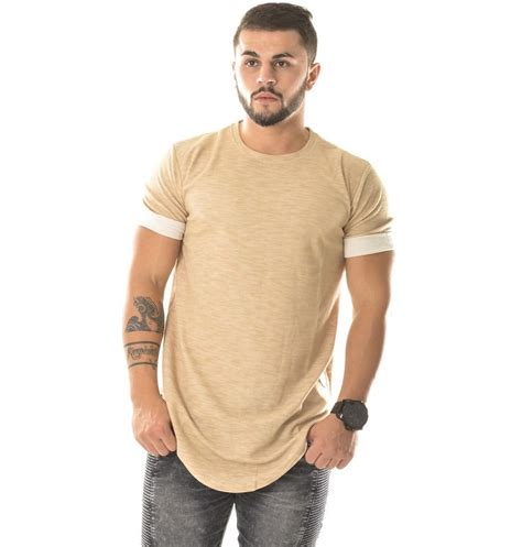 Fashion extra long shirts for men couples matching clothing hiphop clothes kanye plain blank t ...
