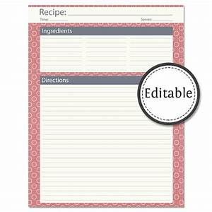 8 best images of printable recipe cards whole page free With free printable full page recipe templates