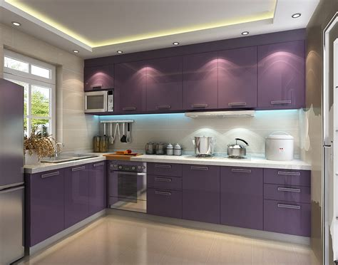 Purple Kitchen Ideas Designed In Feminine Style