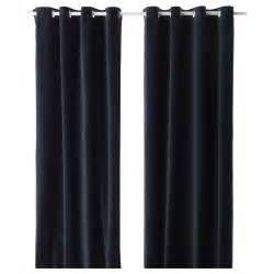 sanela curtains 1 pair dark blue 140x250 cm ikea