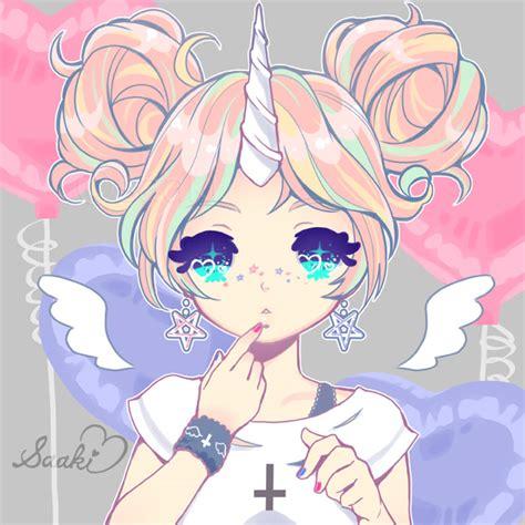 anime unicorn art unicorn girl by saaki pyrop on deviantart