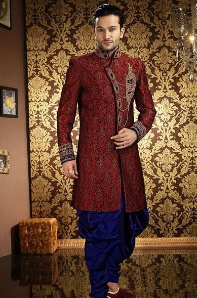 usd  maroon sequin work pathani suit  indian