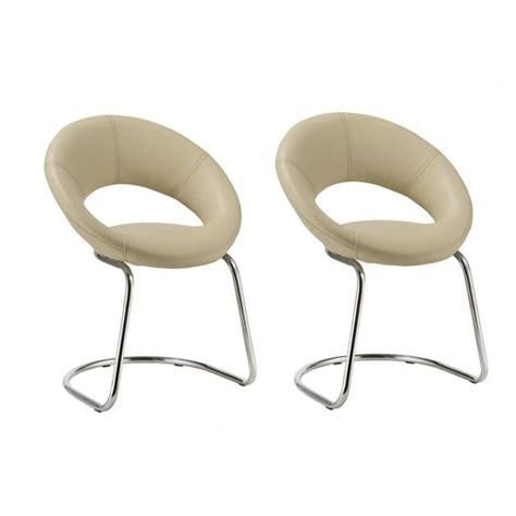 chaise de cuisine en cuir blanc 21 sur autre lot de 2 chaises visiteur bureau cuisine