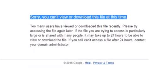 How To Fix Google Drive Download Limit For Shared Files