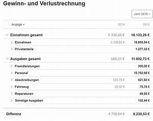 G Und V Rechnung : gewinn verlustrechnung guv erstellen mit lexoffice ~ Themetempest.com Abrechnung