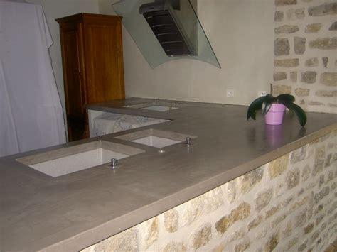 plan de travail en b ton cir cuisine cuisine plan de travail côté béton