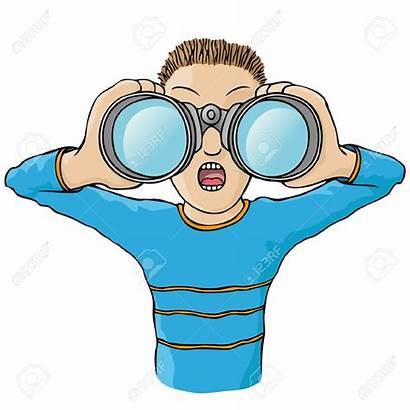 Binoculars Clipart Binocular Kid Child Cartoon Looking