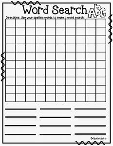 mrs thompson39s treasures 8 fun spelling word activities With create your own word search template