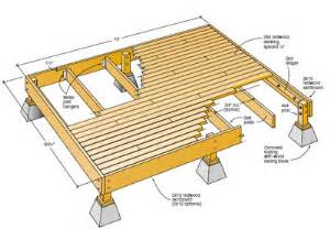 8x8 freestanding deck on slope google search