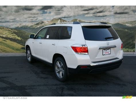 Toyota Highlander 4wd by 2013 Blizzard White Pearl Toyota Highlander Limited 4wd