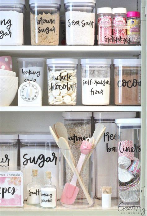 printable pantry labels hand lettered organizing
