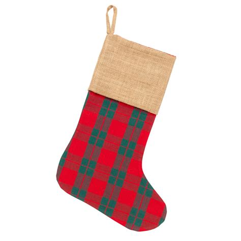 plaid christmas stocking monogrammed christmas stockings personalized christmas stocking