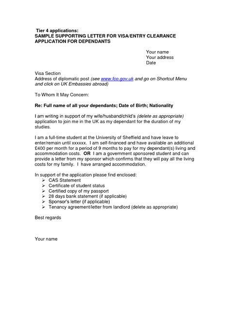 Cover Letter Template Visa Application | 2-Cover Letter