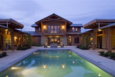 shape rustic houses  courtyard pools google search  shaped house plans courtyard