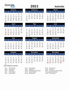 2020 Yearly Calendar Word 2021 Calendar Australia With Holidays