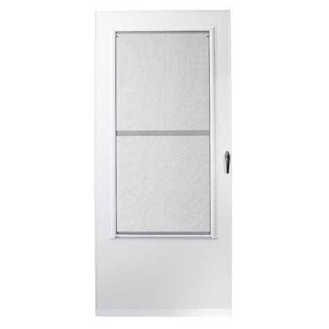 emco screen door emco 34 in x 80 in 100 series white self storing