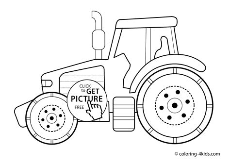 Tractor Transport Coloring Pages For Kids Printable