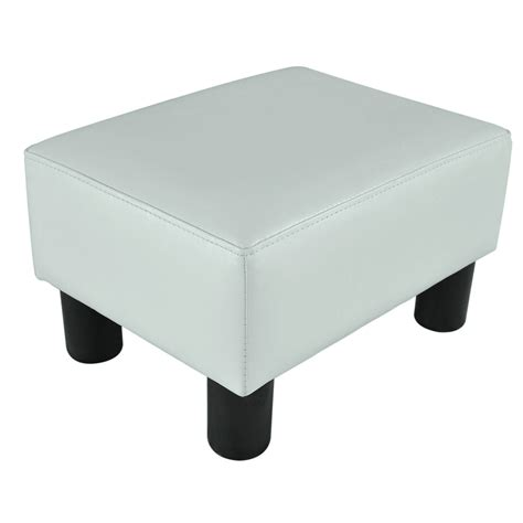 Ottoman Foot Stool by Modern Faux Leather Ottoman Footrest Stool Foot Rest Small
