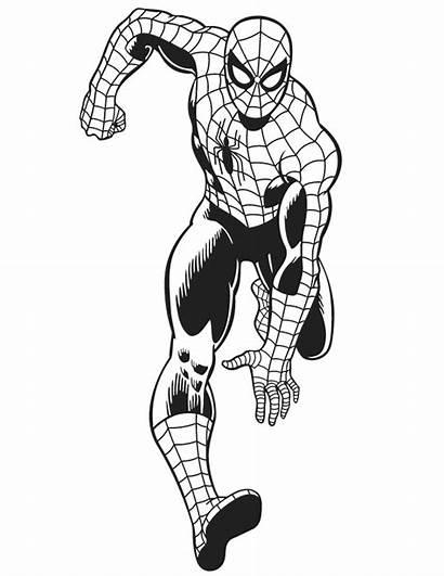 Avengers Coloring Marvel Spiderman Spider Comics Printable