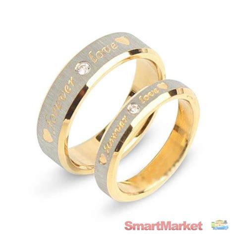 High Quality Women  Man Aa Zircon Couple Rings 18k Gold