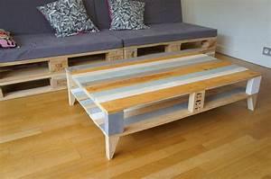 Table En Palette : table basse palette industrielle vintage inspiration ~ Melissatoandfro.com Idées de Décoration