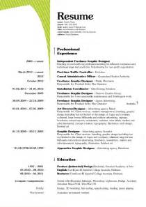resumes for freelance graphic designers freelance resume design images