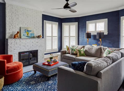 Navy Living Room by 29 Blue Living Rooms Made For Relaxing
