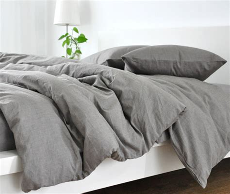 Grey Duvet Cover, Natural Linen, Custom Size, Queenking