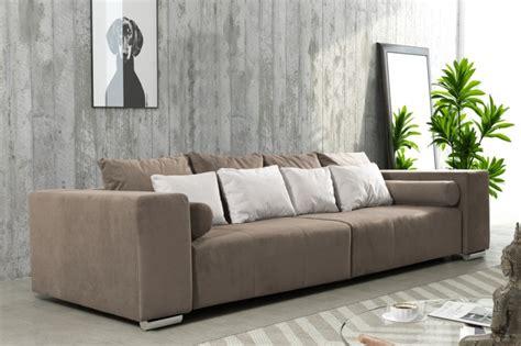 Modernes Schlafsofa Sofa Couch Big Sofa In Braun