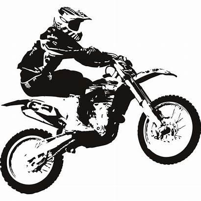 Dirt Bike Clipart Motocross Bikes Draw Drawing