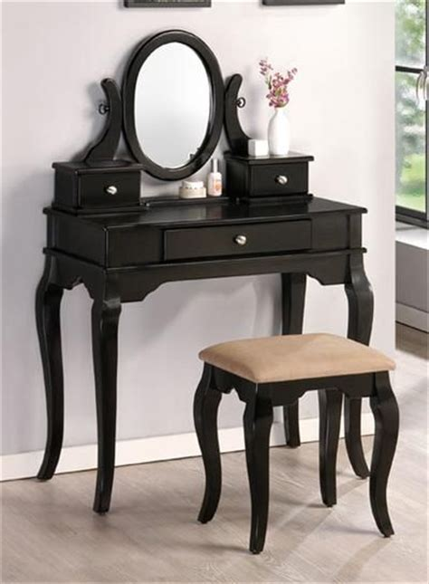 black makeup vanity black makeup table