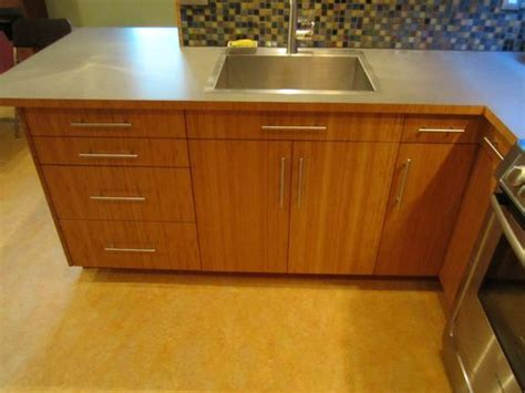 hand crafted custom bamboo plywood kitchen  vermont fine