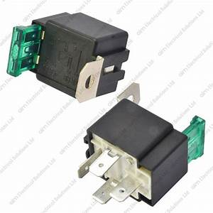 12v 4 Pin 30a Fused Relay With Bracket 12 Volt Normally
