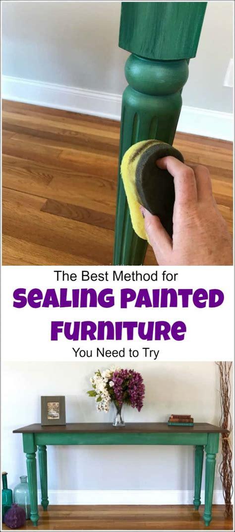 method sealing painted furniture