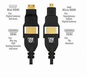 6 Ft Hdmi With Mini And Micro Hdmi Cable