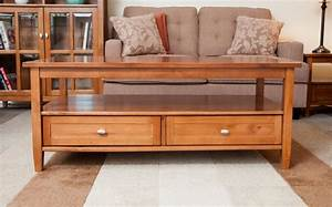 Wooden coffee table with drawers coffee tables for Small wooden coffee table with drawers