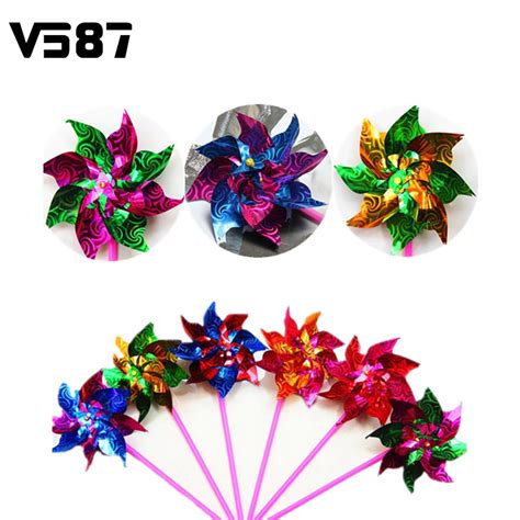10pcs bag windmill spinner pinwheel whirl colorful