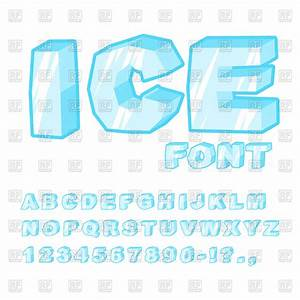 Ice Font Vector Illustration Of Fonts  U0026 Type  U00a9 Maryvalery