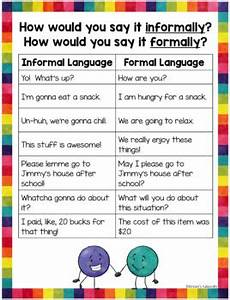 Formal And Informal Language Activities Task Cards And