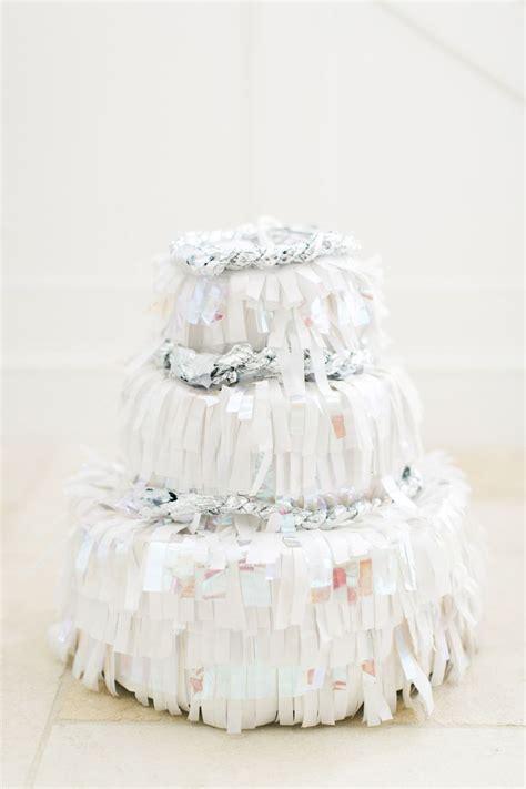 diy wedding cake pinata  girl weddings